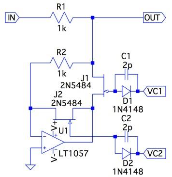 OPアンプを使った信号のスイッチ...